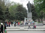 Возле памятника В. И. Ленину