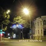 Ночная Анапа: на пересечении Крымской и Краснодарской