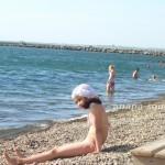 Галечный пляж в Анапе, 3.06.2011