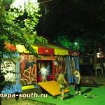 Ночная Анапа: детский игровой аттракцион