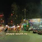 Ночная Анапа: в парке аттракционов - «Ферма динозавров»