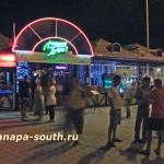Ночная Анапа: у кафе «Ласковый берег»
