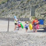 Семейный отдых на пляже в Анапе