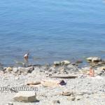 Красивый вид со спуска к пляжу в Анапе