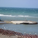 Вид на море в набережной