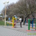 Тренажеры на Набережной в Анапе весной