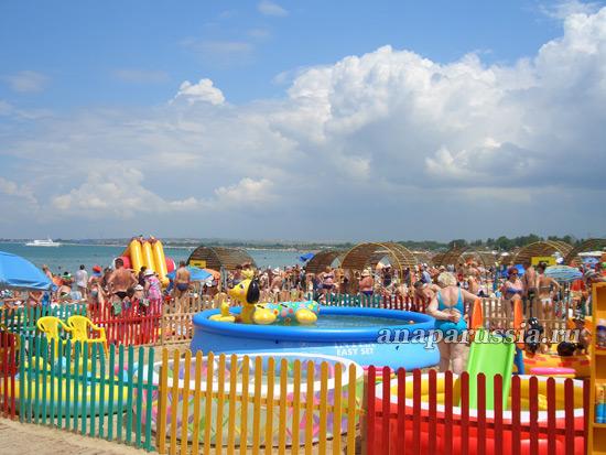 Детские сады на пляжах Анапы