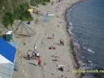 Отдых на галечном пляже в Анапе